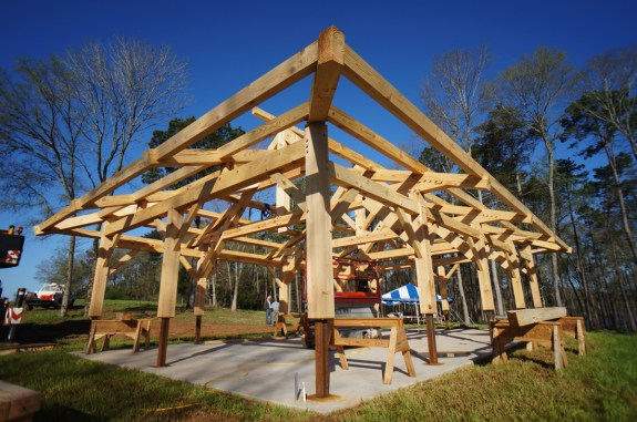 Timber Frame Compound Roof 02