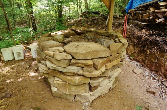 Cob Oven - Stone Foundation