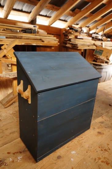 Large Dutch Tool Chest with Blue Milk Paint