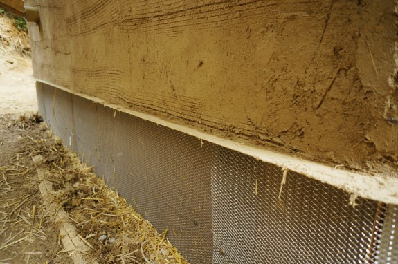 Straw Bale Base Coat Plaster