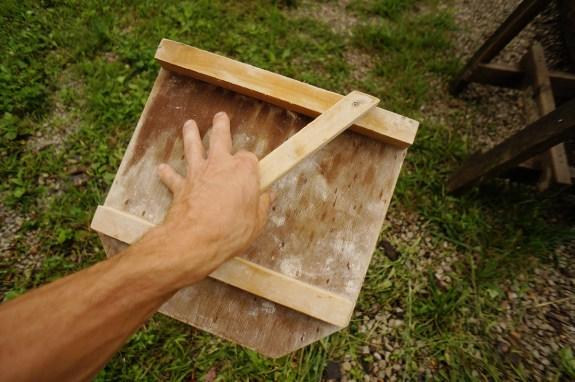 Japanese wood plaster hawk