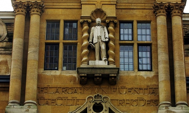 The Cecil Rhodes statue at Oriel College - The Guardian