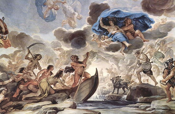 """""""The Boat of Charon, Sleep, Night and Morpheus"""" by Luca Giordano"""