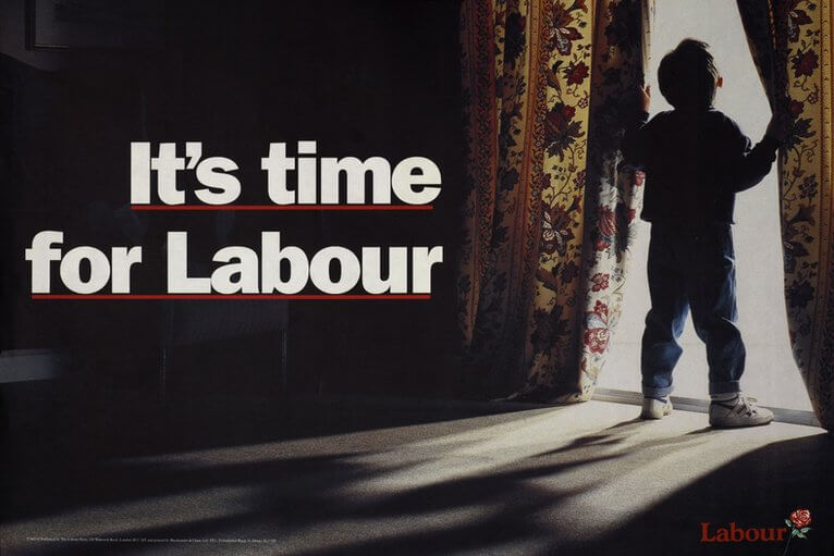 'It's time for Labour', a 1992 poster by the Labour Party. Image credit: BBC