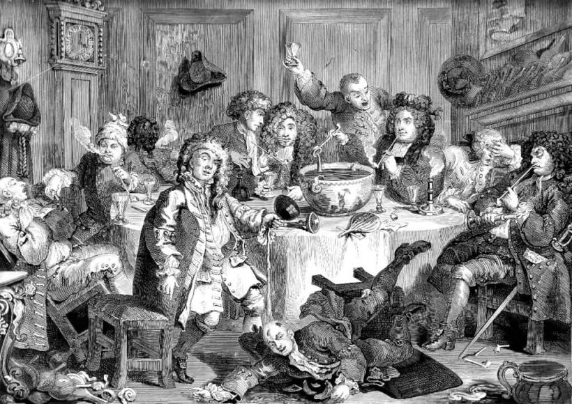 """A Midnight Modern Conversation"" by William Hogarth. Image credit: Wikimedia"