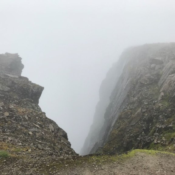 View of the edge of Ben Nevis. Image: Violet Daniels.