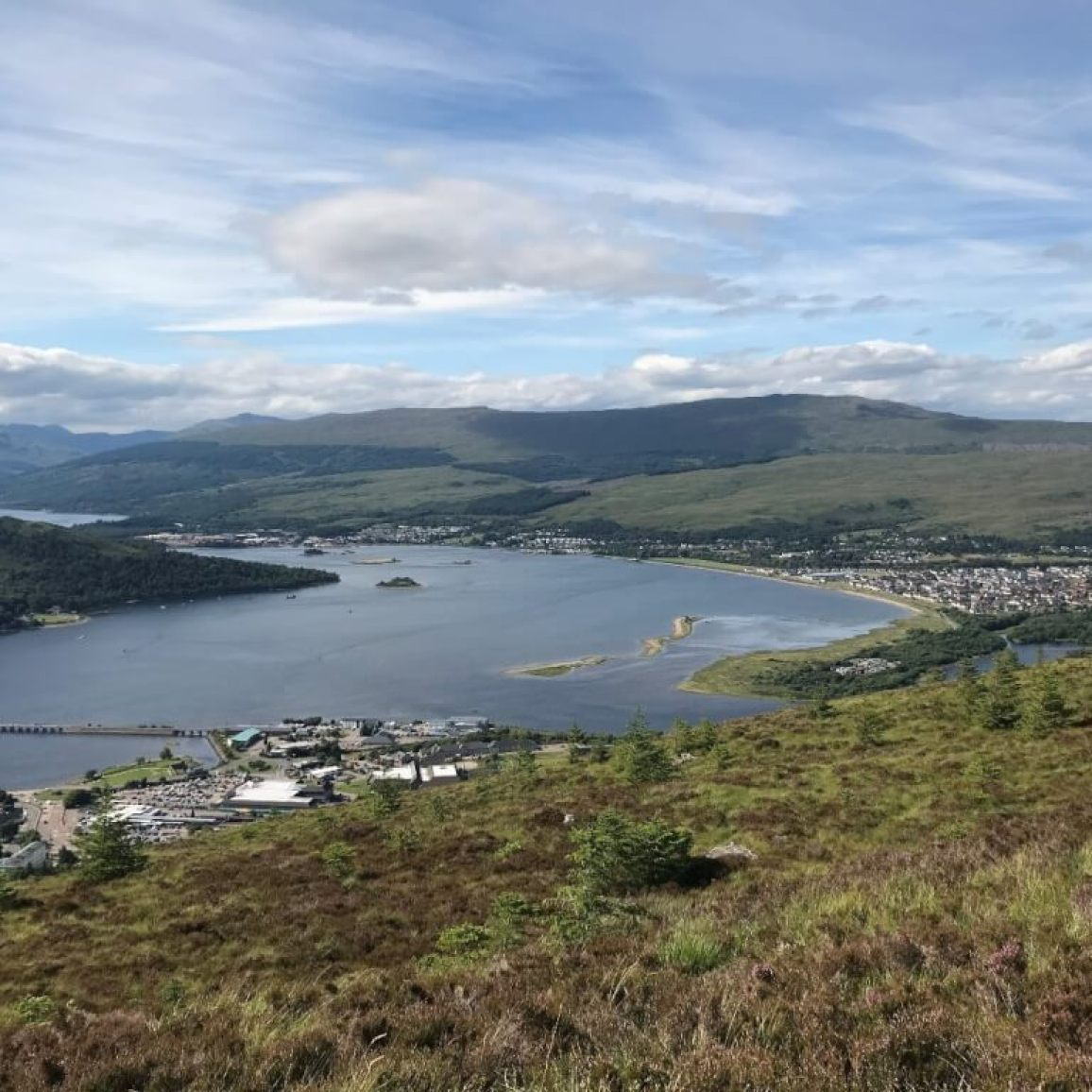 View over Fort William from Cow Hill. Image: Violet Daniels.