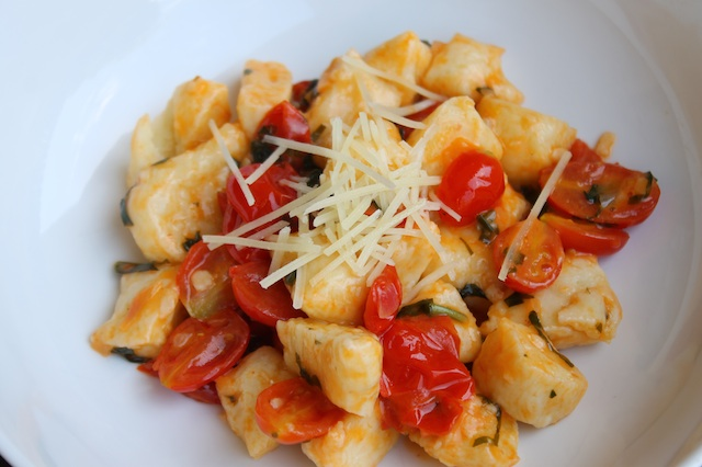Potato Gnocchi with Tomato-Basil Butter Sauce