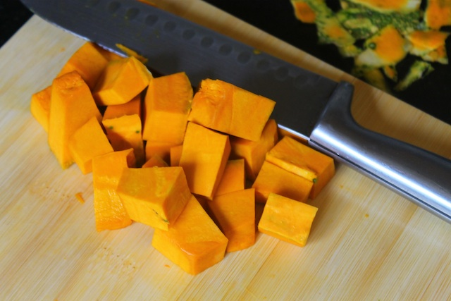 Chopped Pumpkin for Pumpkin Puree