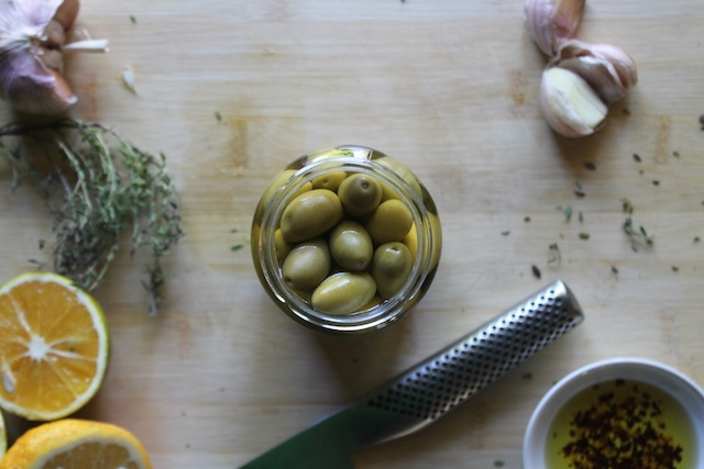 Ingredients for Marinated Olives