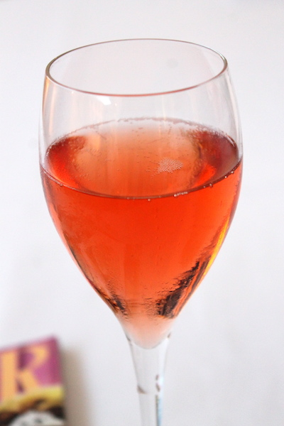 My favourite champagne of the evening, Laurent-Perrier Rosé