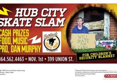 Hub City Skate Slam Poster, Banner, Billboard