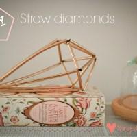 Loving...straw diamonds {crafty fun}