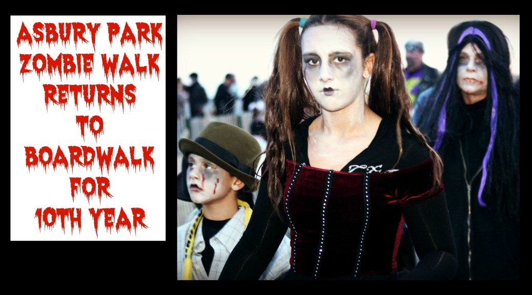 Thousands of un-dead are expected to lurch down the boardwalk for the 2017 Asbury Park Zombie Walk | learn more at www.thingstodonewjersey.com | zombie walks in NJ | zombie events in NJ | zombie runs in NJ | 2017 Asbury Park Zombie Walk Date