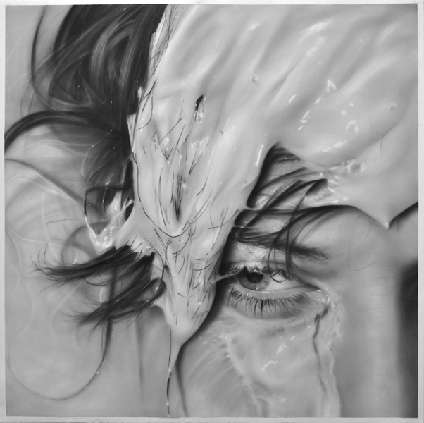 """Washed Out, graphite on paper, 50 """" x 50 """""""