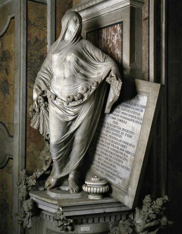 """Modesty,"" 1751 Marble, Cappella Sansevero, Napoli"