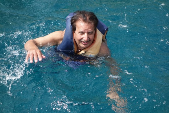 Swimming ( with safety jacket) in Aegean Sea