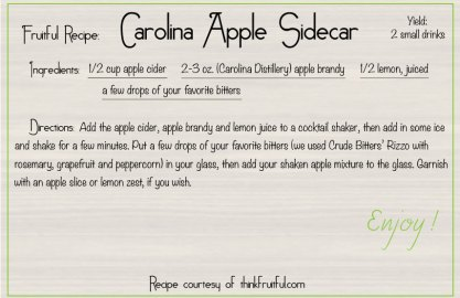 carolina apple sidecar recipe