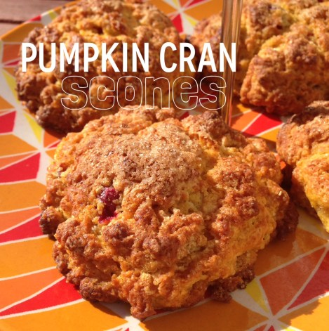 pumpkin cran scones