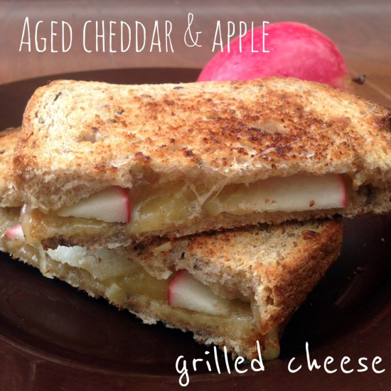 aged cheddar apple grilled cheese