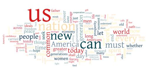 Obama's inaugurationspeech through Many Eyes