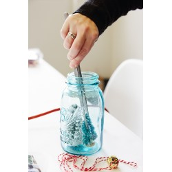 Cool A Mason Jar Diy Snow How To Make Winter Wonders Without Water Think Homemade Snow Globe Glitter Clumping Homemade Snow Globes Gelatin Placing Trees