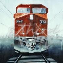 joseph cates, train, transportation art, seattle art