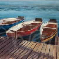 nautical, seattle art, boats, fishing, representational