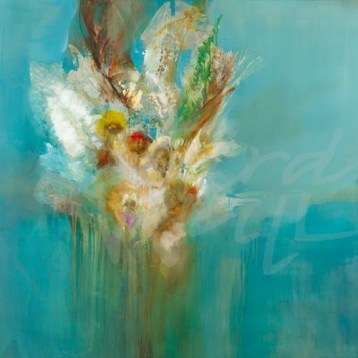 transitional floral, seattle art, abstract, contemporary