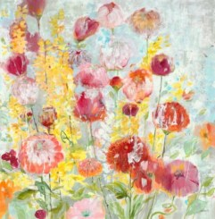 transitional floral flowers spring summer brights seattle art