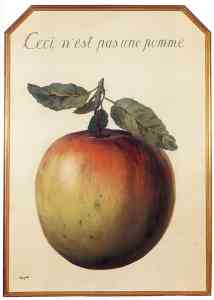 """Translation: """"This is not an apple."""""""