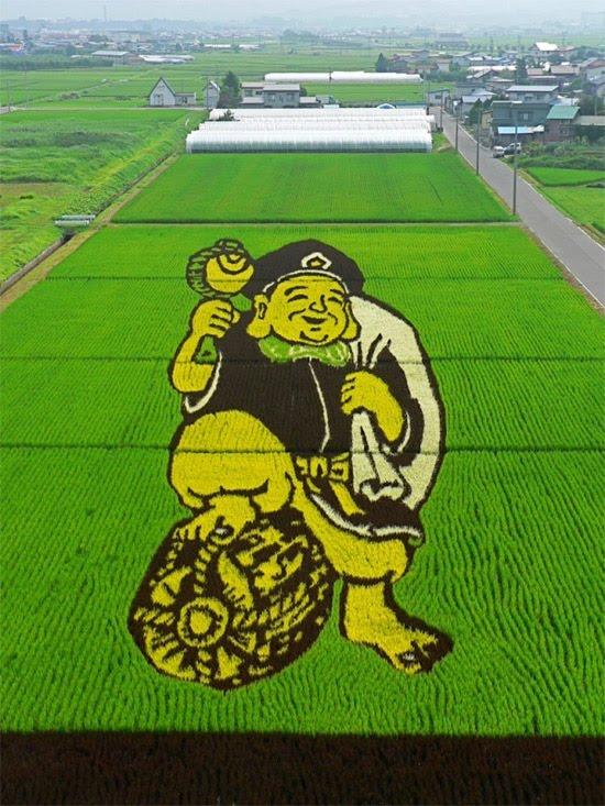 budha-rice-art