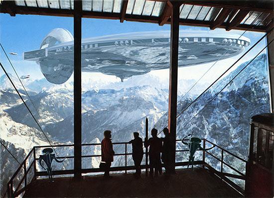 space-ship-invades-postcard