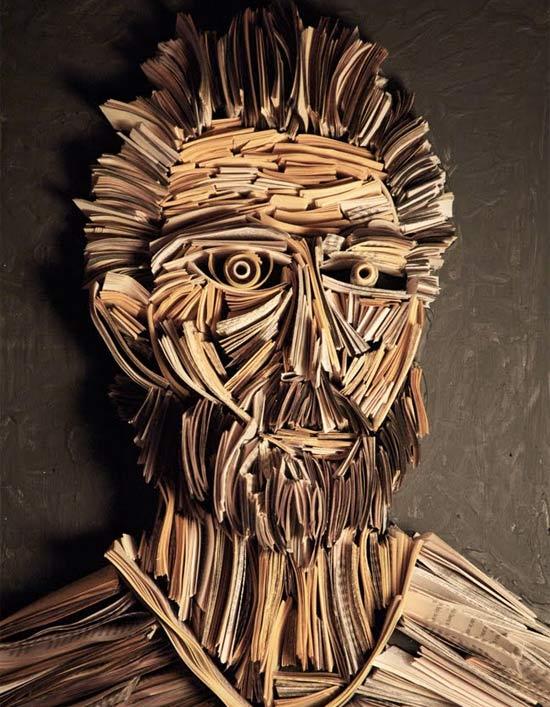 newspaper-sculpture