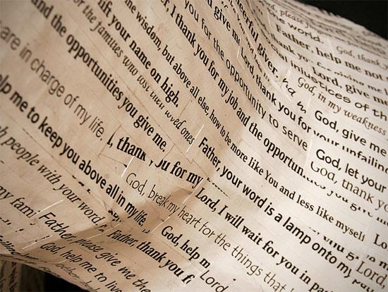 prayer-paper-sculpture-detail