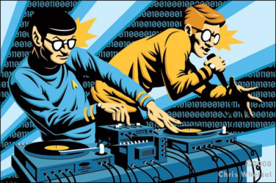 Nerdcore hip hop illustration by Chris Whetzel