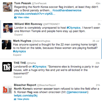 #Olympics News According To Twitter