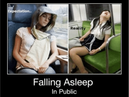 People Falling Asleep and the Funniest Things about Public Transport