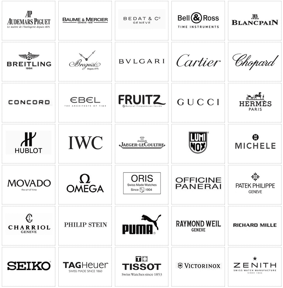 Watches Brand Logos