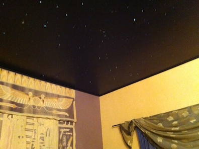 finished guest room ceiling