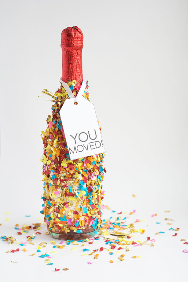 Confetti Dipped Champagne Bottles | this heart of mine