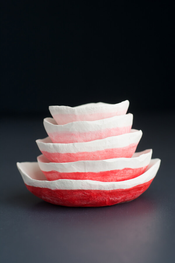 Handmade Nested Clay Bowls   this heart of mine