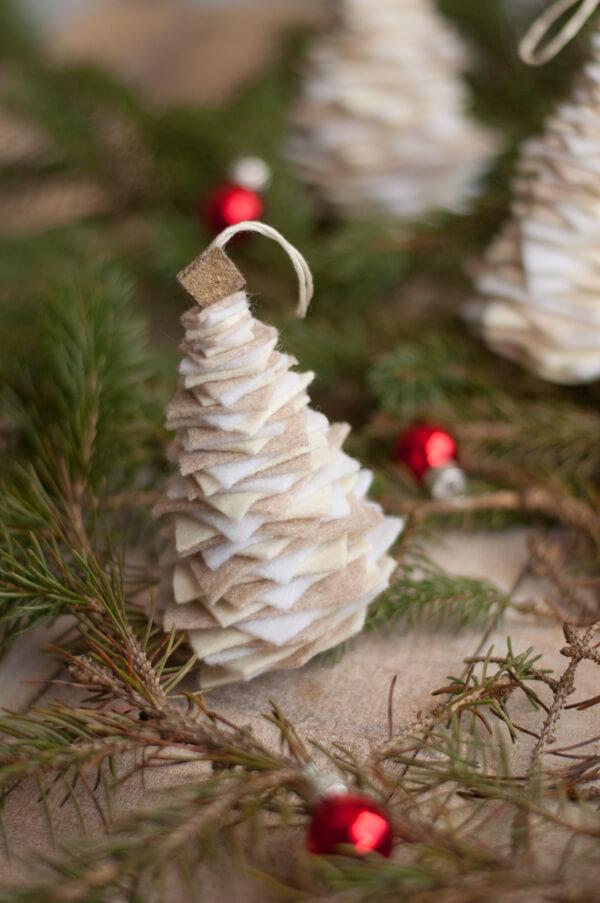 Felt Tree Ornament   this heart of mine