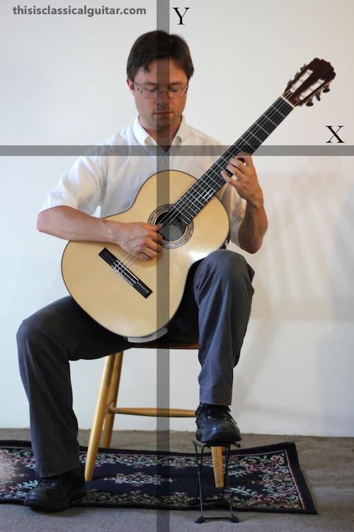 Lesson: Sitting Position - Classical Guitar - Diagram