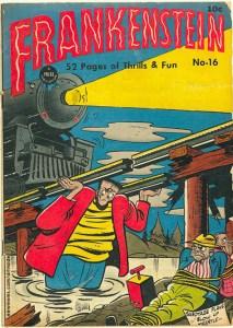 Dick Briefer cover artwork to Frankenstein No.16.