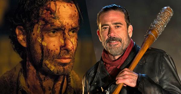 The Walking Dead Rick and Negan