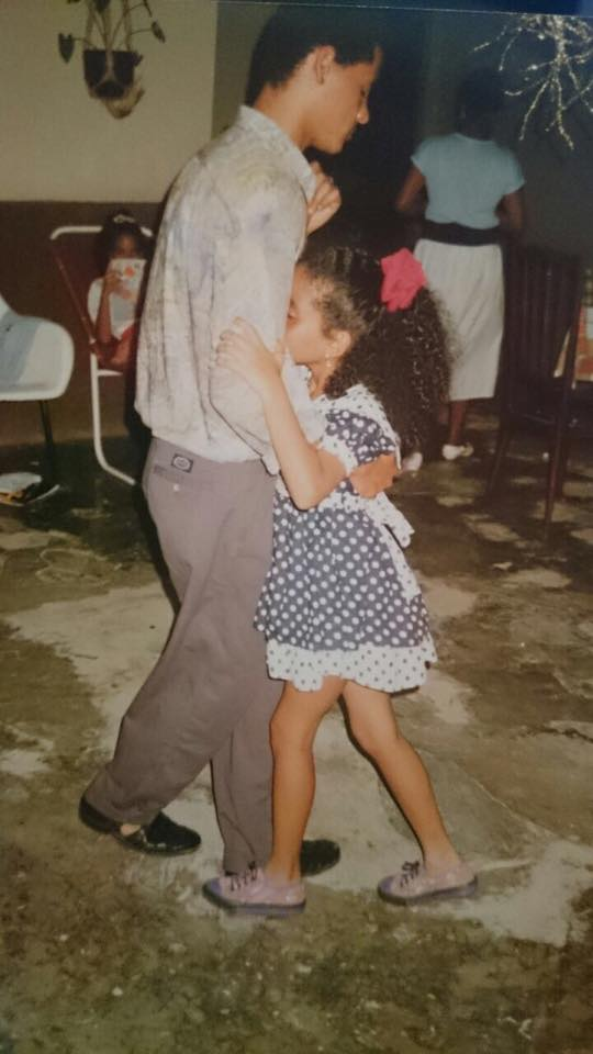 A brother and sister dancing kizomba in Angola in the 1980s. Photo credit to Tania Mendonca.