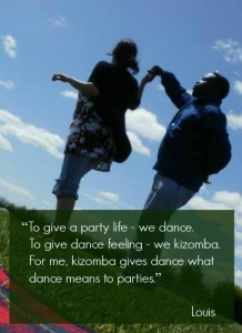 Kizomba gives dance feeling