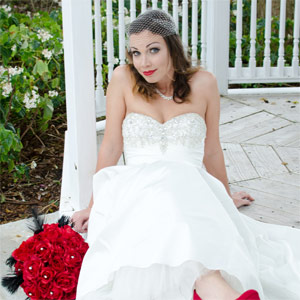 Christine in wedding dress - A Face behind the thought