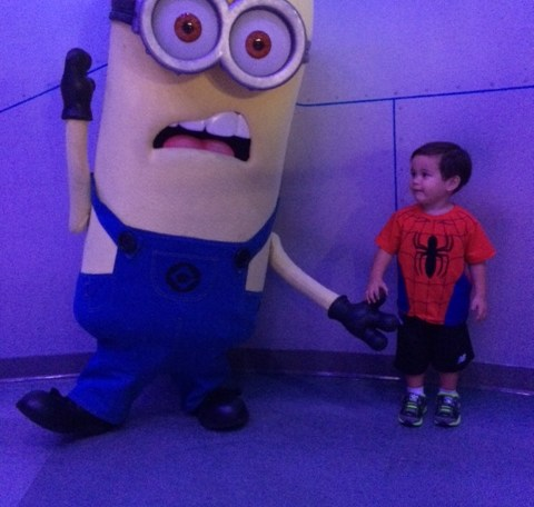 AJ with a Minion